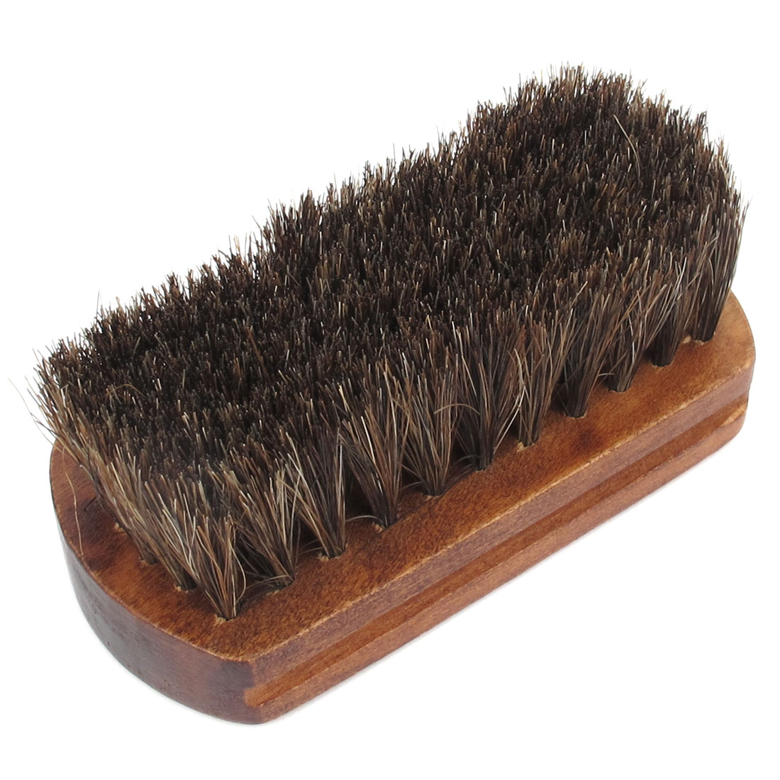 "4.3"" Length Wood Color Base Scrubbing Brush Cleaning Tool for Clothes Shoes"