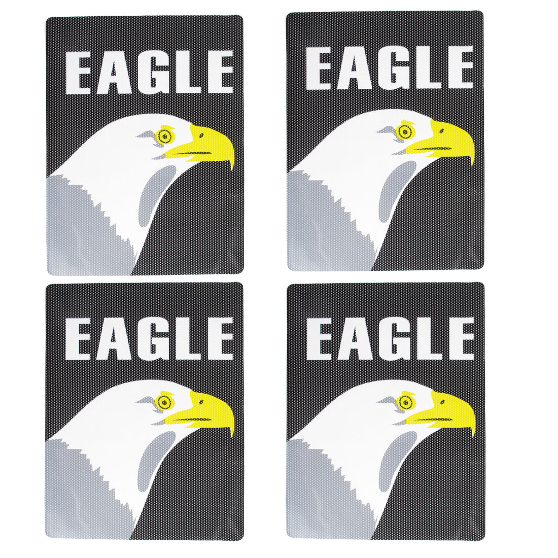 4 Pcs Black White Eagle Pattern Car Window Signal Cling Static Sticker Decor