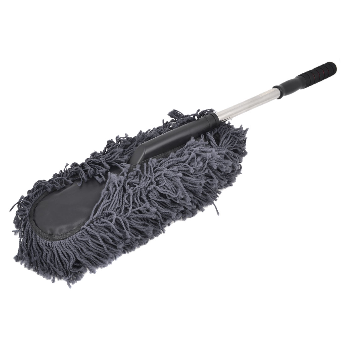 Dark Gray Nonslip Handgrip Microfiber Chenille Car Cleaning Brush Tool 77cm Long