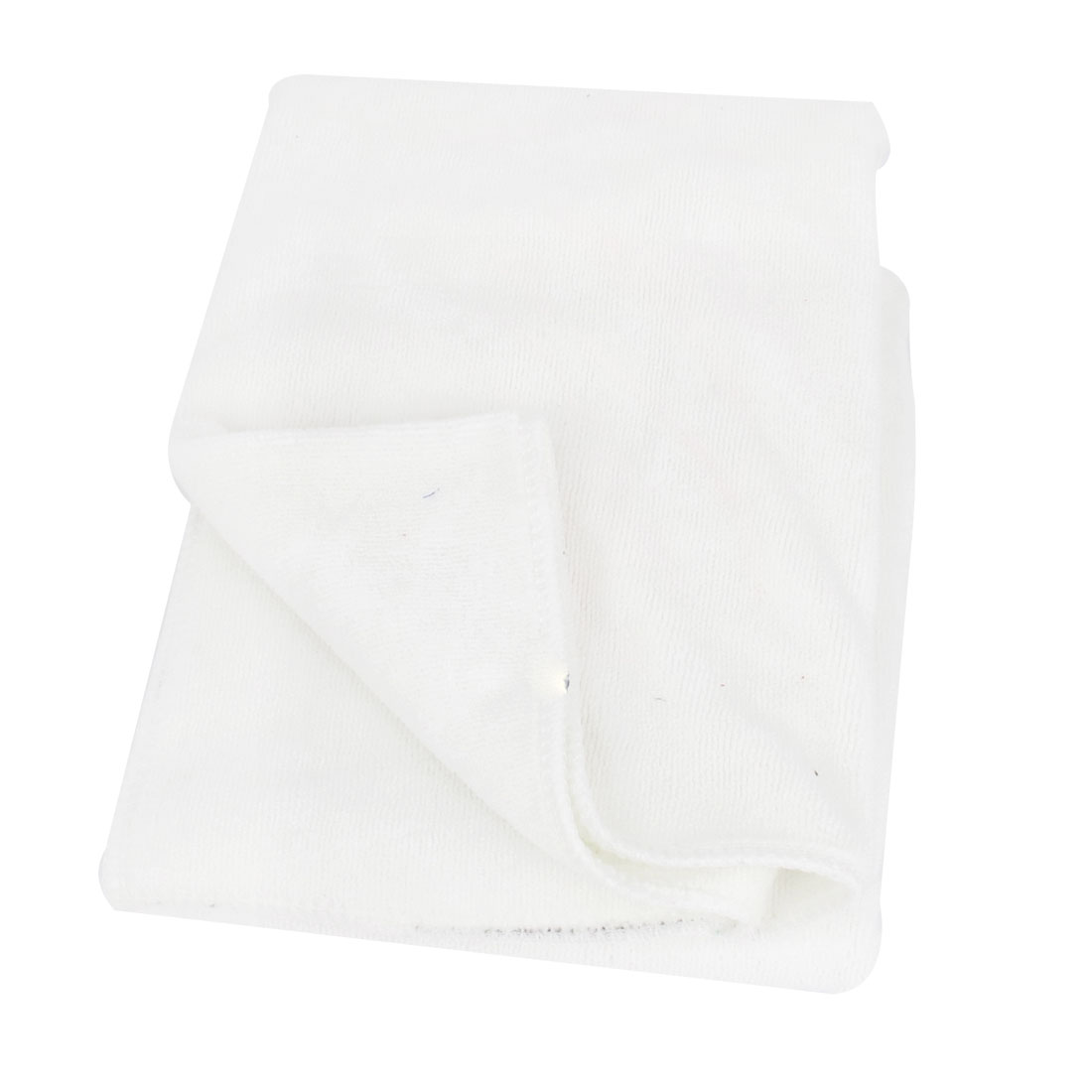 70cm x 50cm White Microfiber Soft Face Washing Glass Cleaning Towel Tool