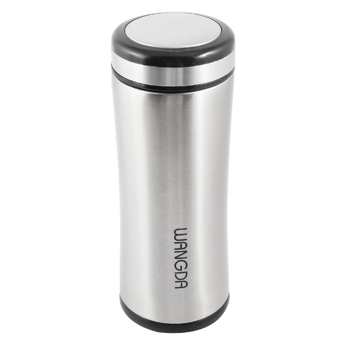 Stainless Steel Travel Outdoor Drink Cup Vacuum Water Bottle Silver Tone 500ml