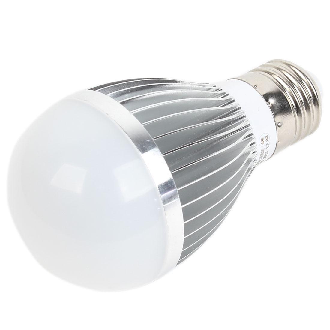 Home E27 Energy Saving LED Globe Ball White Light Lamp Bulb AC 165-265V 5W