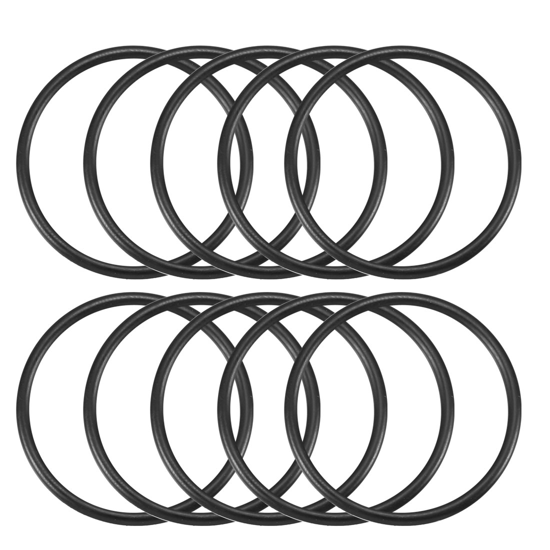 38mm x 33.2mm x 2.4mm Black Rubber O Ring Oil Seal Gasket 10 Pcs