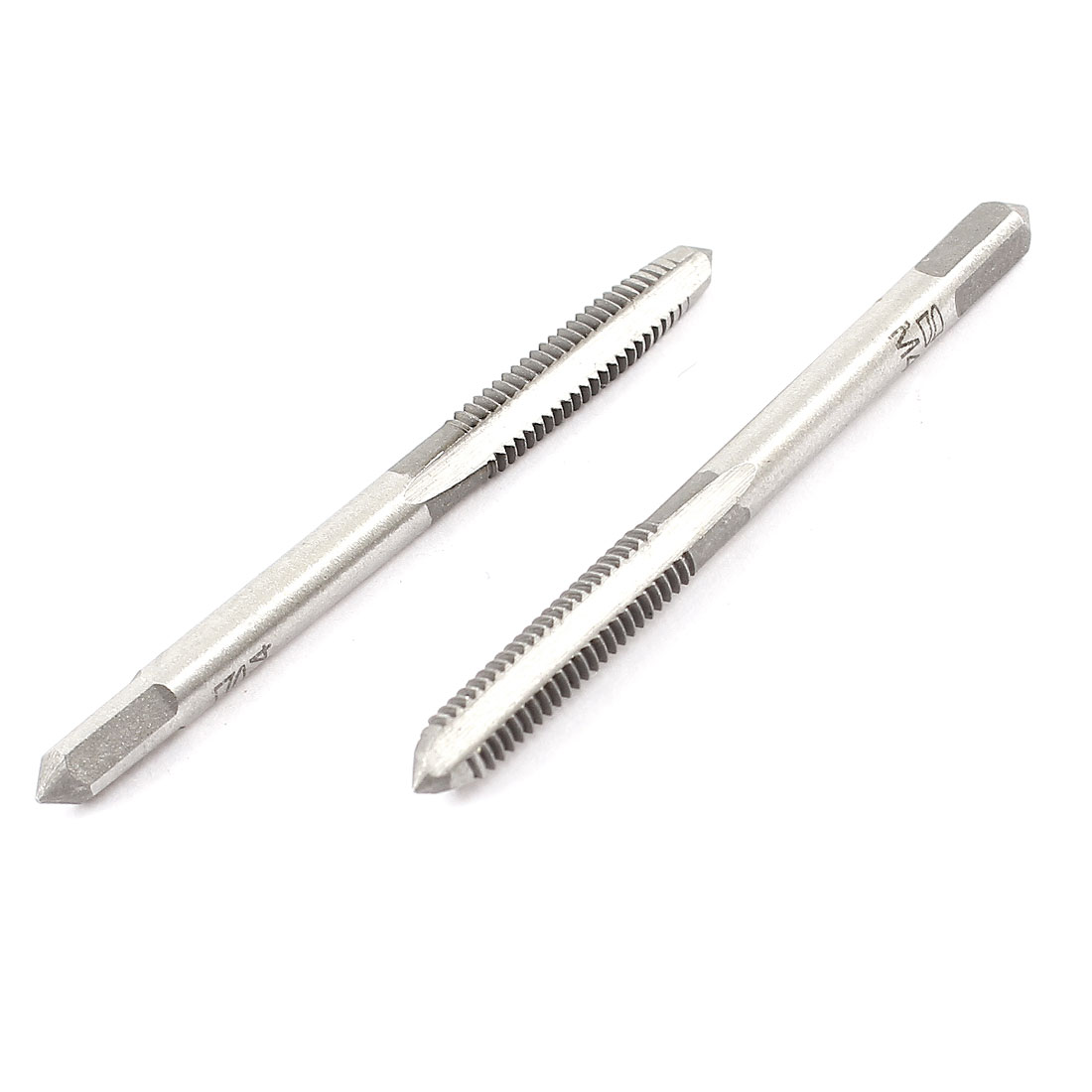 2 Pcs High Carbon Steel 4mm Screw Thread Metric Taps Hand Tool