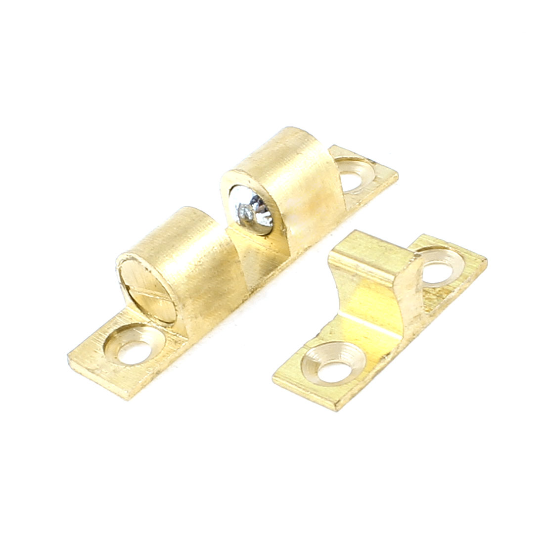 Cupboard Cabinet Brass Double Ball Catch 40mm Long Door Latch