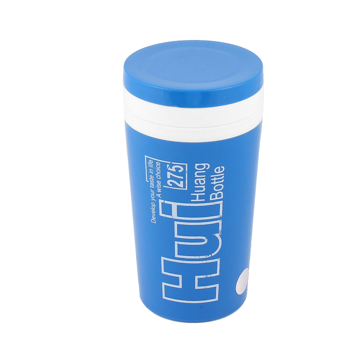 Traveling Blue Plastic Vacuum Flask Bottle Cup Insulated Tumbler 230ml