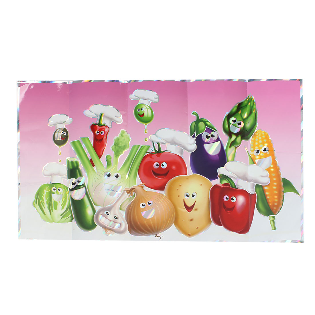 750mm x 450mm Kitchen Sheet Colorful Vegetables Pattern Wall Sticker Decal