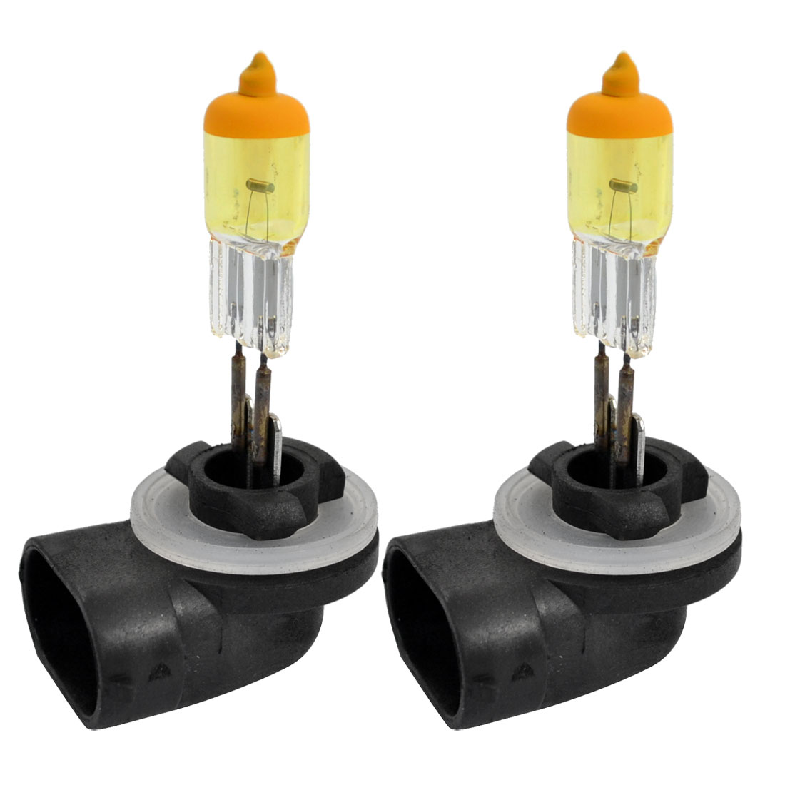 2 Pcs 12V Halogen 881 Socket 27W Amber Auto Car Foglight Head Light Lamp 3000K