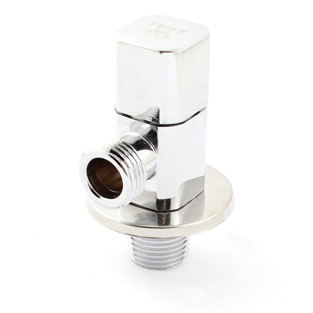 20mm Thread Male to Male Pipe Fitting 2 Way 90 Degree Rotary Water Flow Control Diverter Metallic Angle Valve