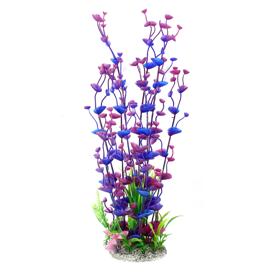 Aquarium 40cm Height Blue Purple Plastic Simulation Aquatic Grass Ornament
