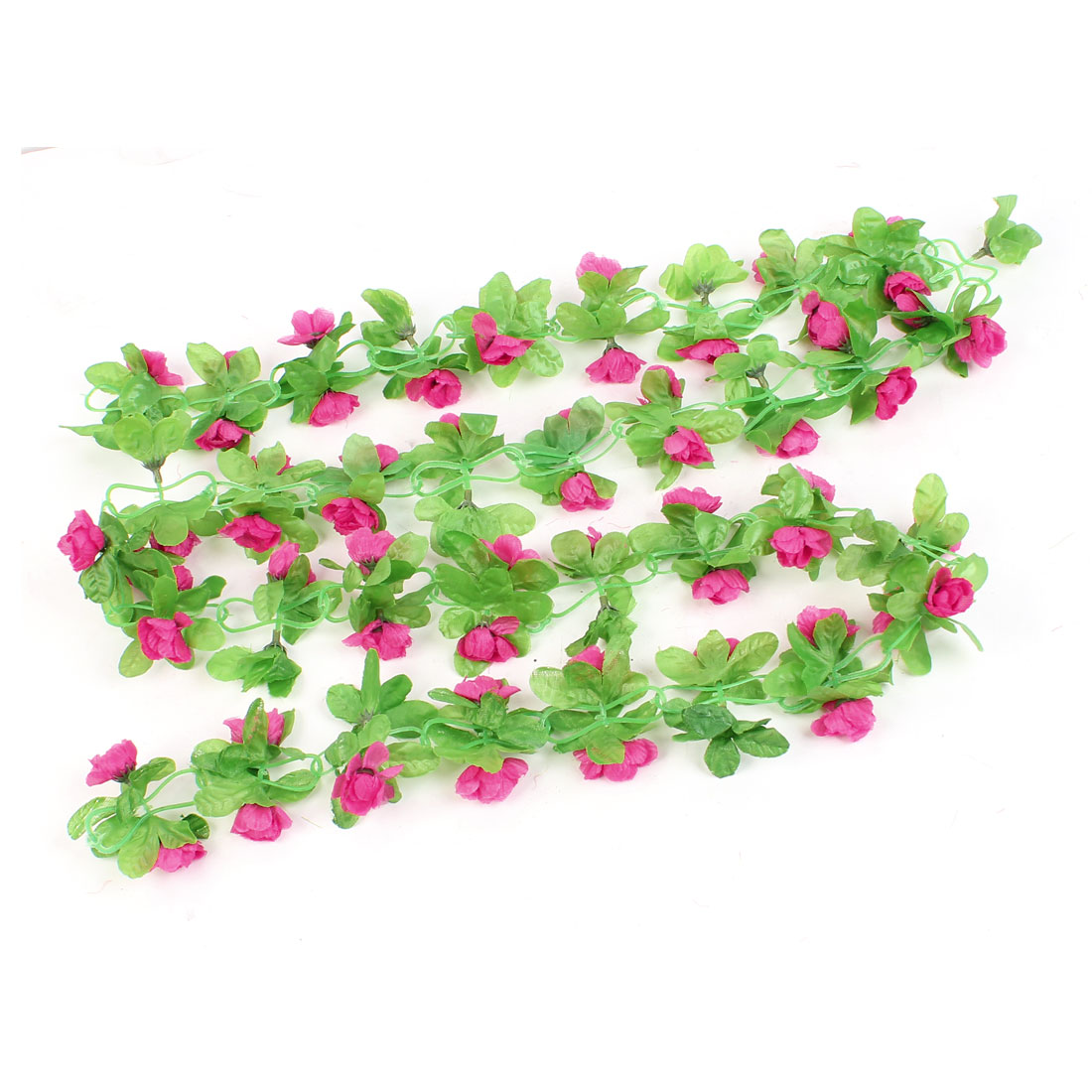 Home Decor 1.8M Long Green Fabric Leaf Fuchsia Lilac Hanging Vine