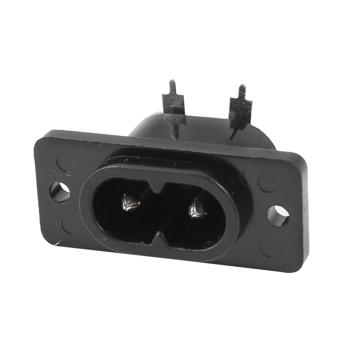 Black 2-Pole IEC320 C8 Inlet Power Socket Connector AC 250V 2.5A