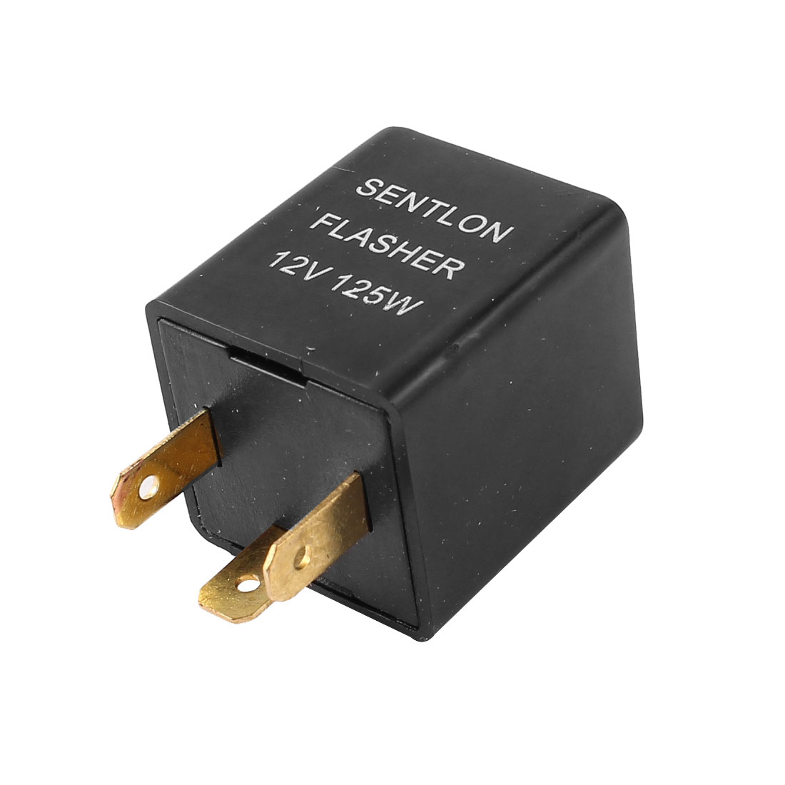 Black 3 Flat Pin Socket Electronic Parts Motorcycle Car LED Flasher DC 12V 125W