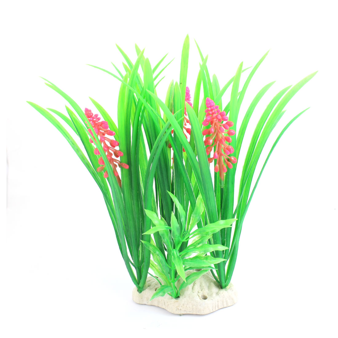 "Aquarium Underwater Landscaping Plastic Grass Plant Decor Green 8.7"" High"