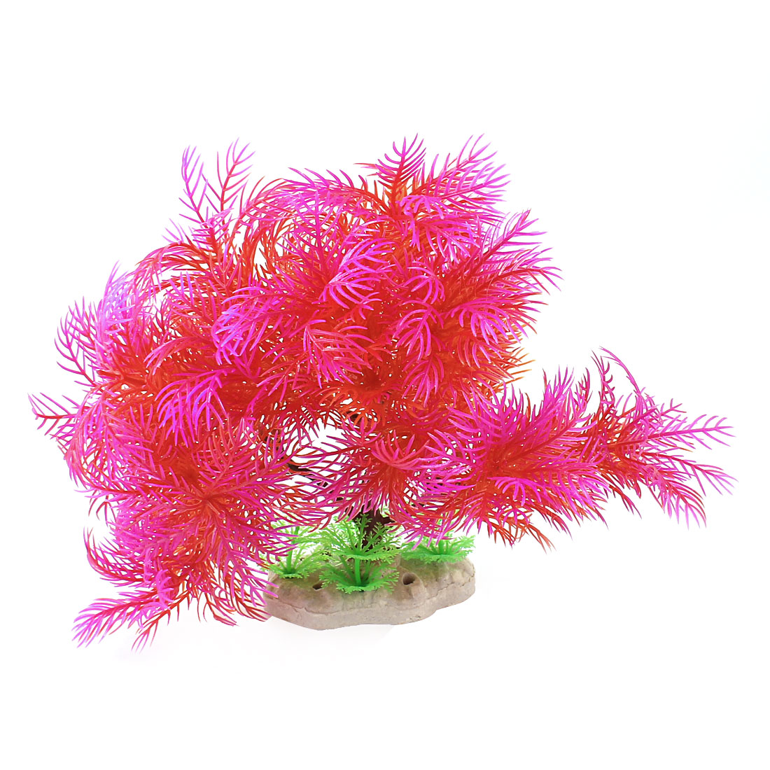 "Fish Tank Aquarium Ornament 7"" Height Simulation Underwater Artificial Emulational Water Plant Grass Fuchsia Red"