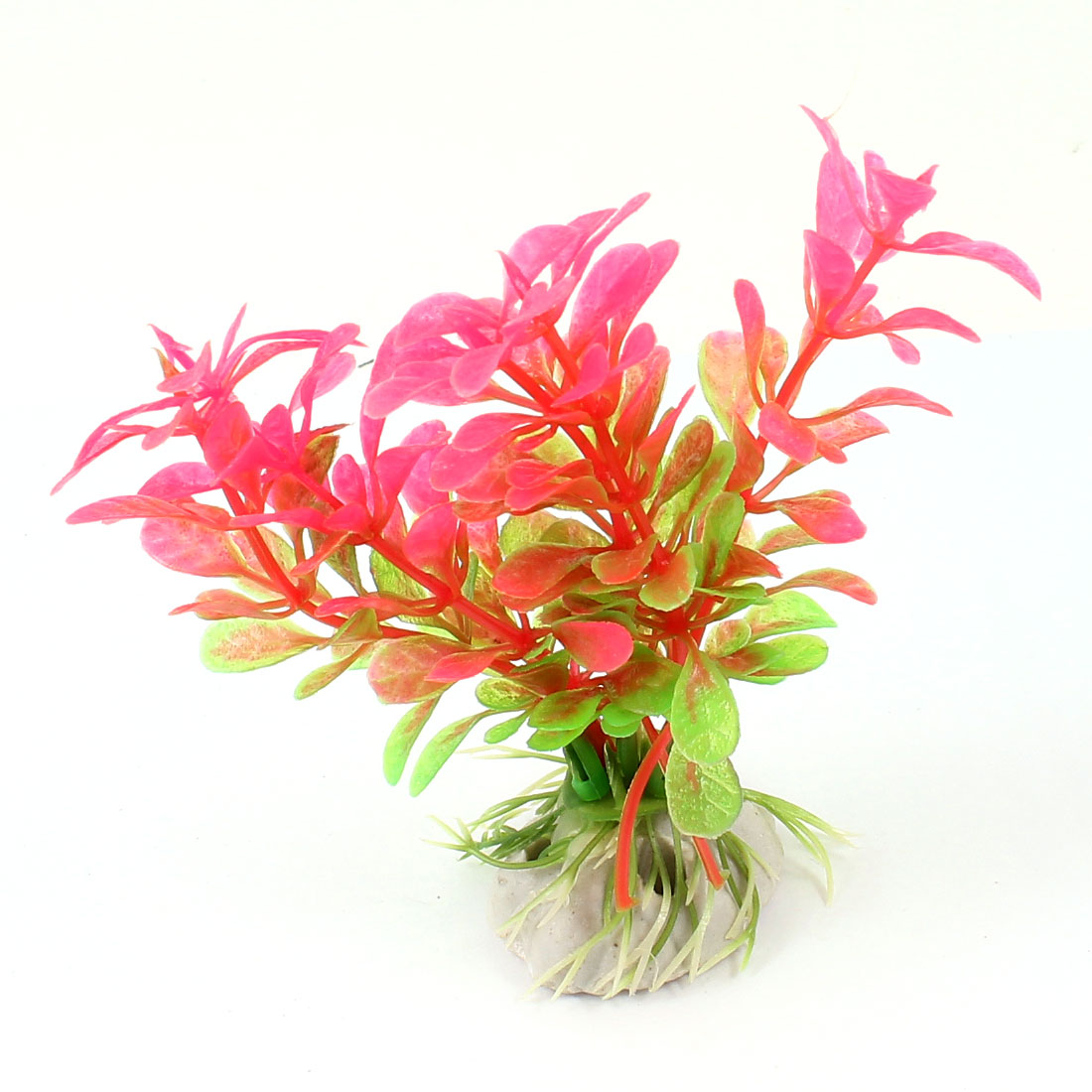 "Fish Tank Aquarium Ornament 4.3"" Height Simulation Underwater Artificial Emulational Water Plant Grass Fuchsia Green"