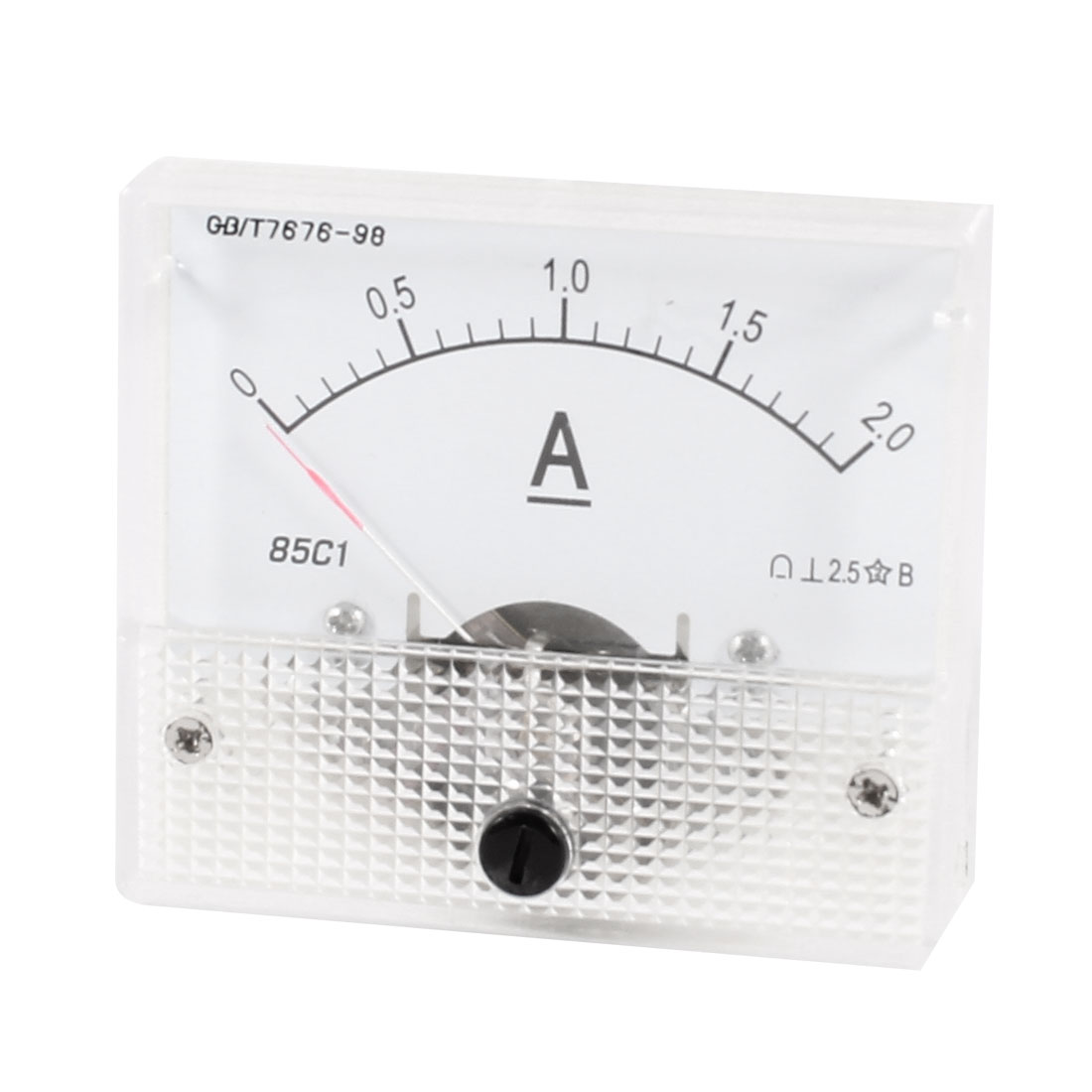85C1 DC 0-2A Rectangle Analog Panel Ammeter Gauge