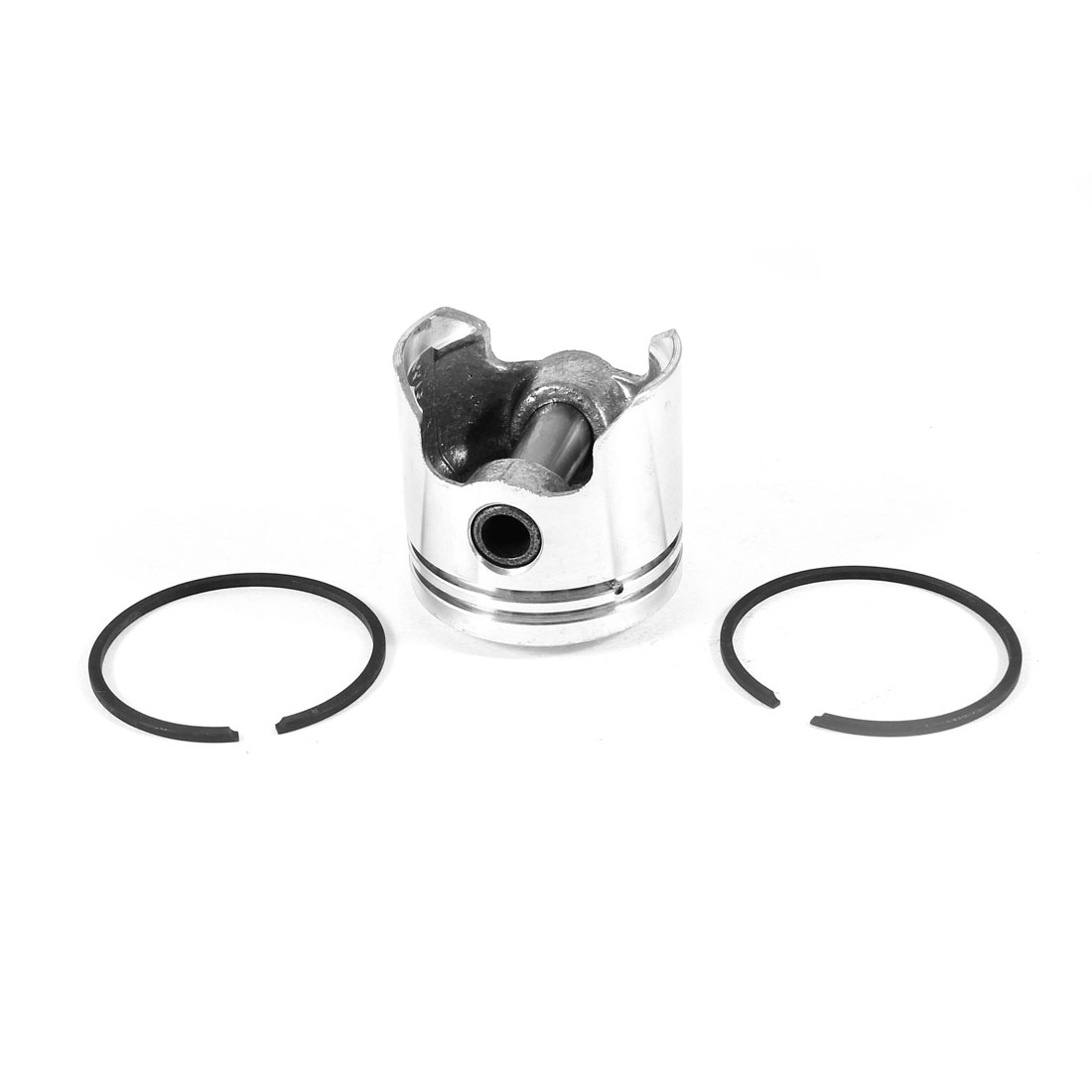 Silver Tone 10mm Bore Dia Piston Pin Ring Set for Air Compressor