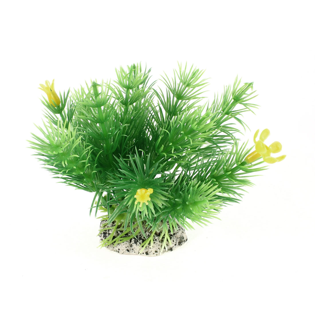 "Fish Tank Decor Green Plastic Artificial Aquatic Plant 3.3"" High"