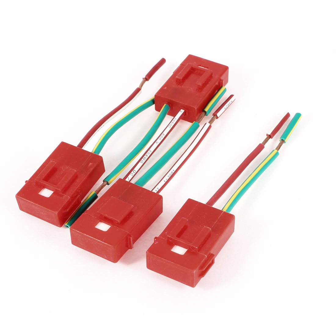 4 Pcs Automotive Plastic Covered Ceramic ATC Blade Inline Fuse Holder Red