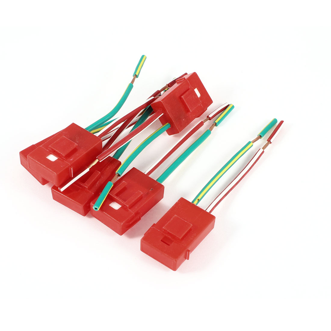 6PCS Red Plastic Coated Ceramic ATC Blade Inline Fuse Holder for Vehicle Car