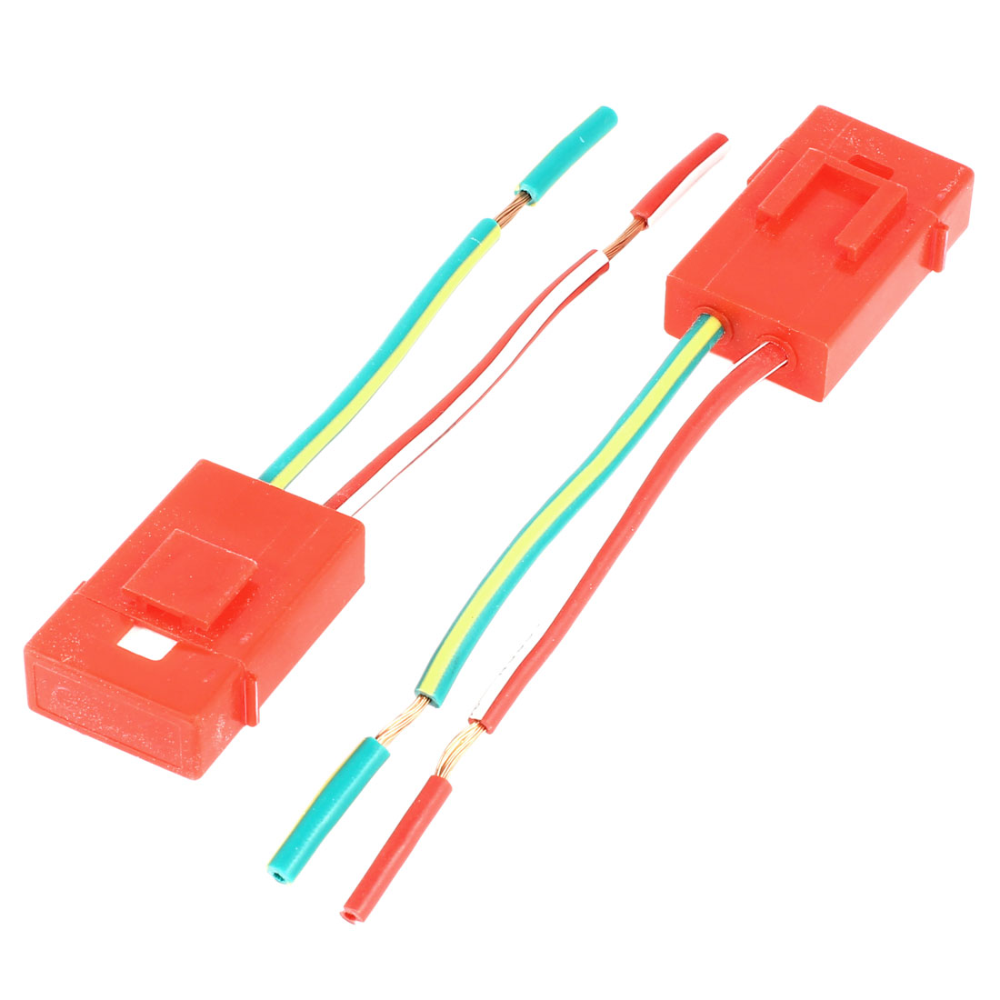 2 x Car Red Plastic Shell Ceramic Two Wired Audio Inline ATC Blade Fuse Holder