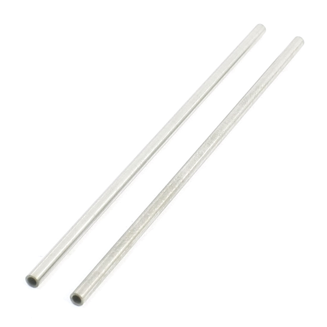 2 Pcs 110mm x 3mm x 2mm Stainless Steel Round Tube Pipe for DIY Car Helicopter Model Toy