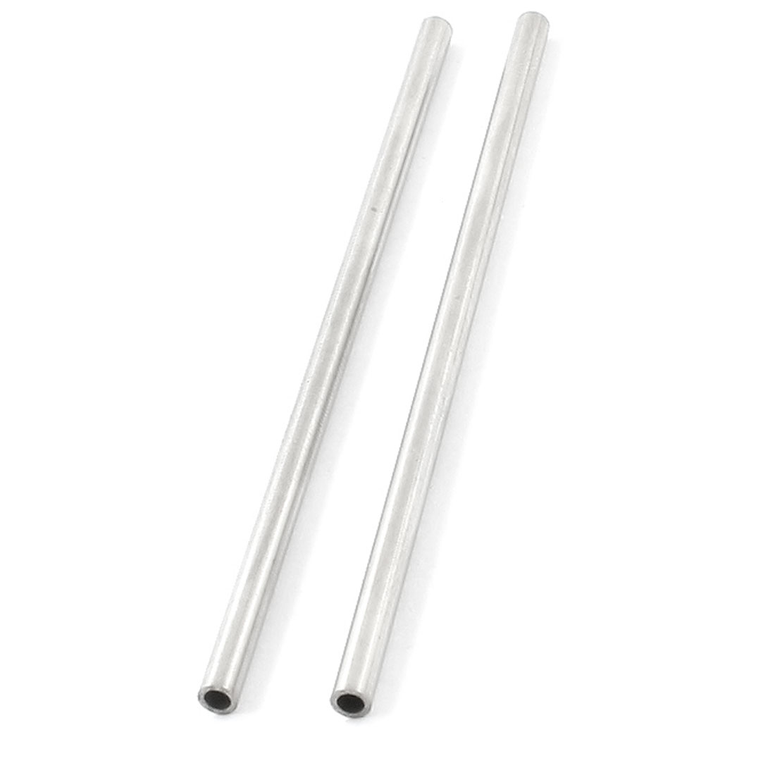 2Pcs Transmission Stainless Steel Welded Round Tubing Rods 80 x 3mm