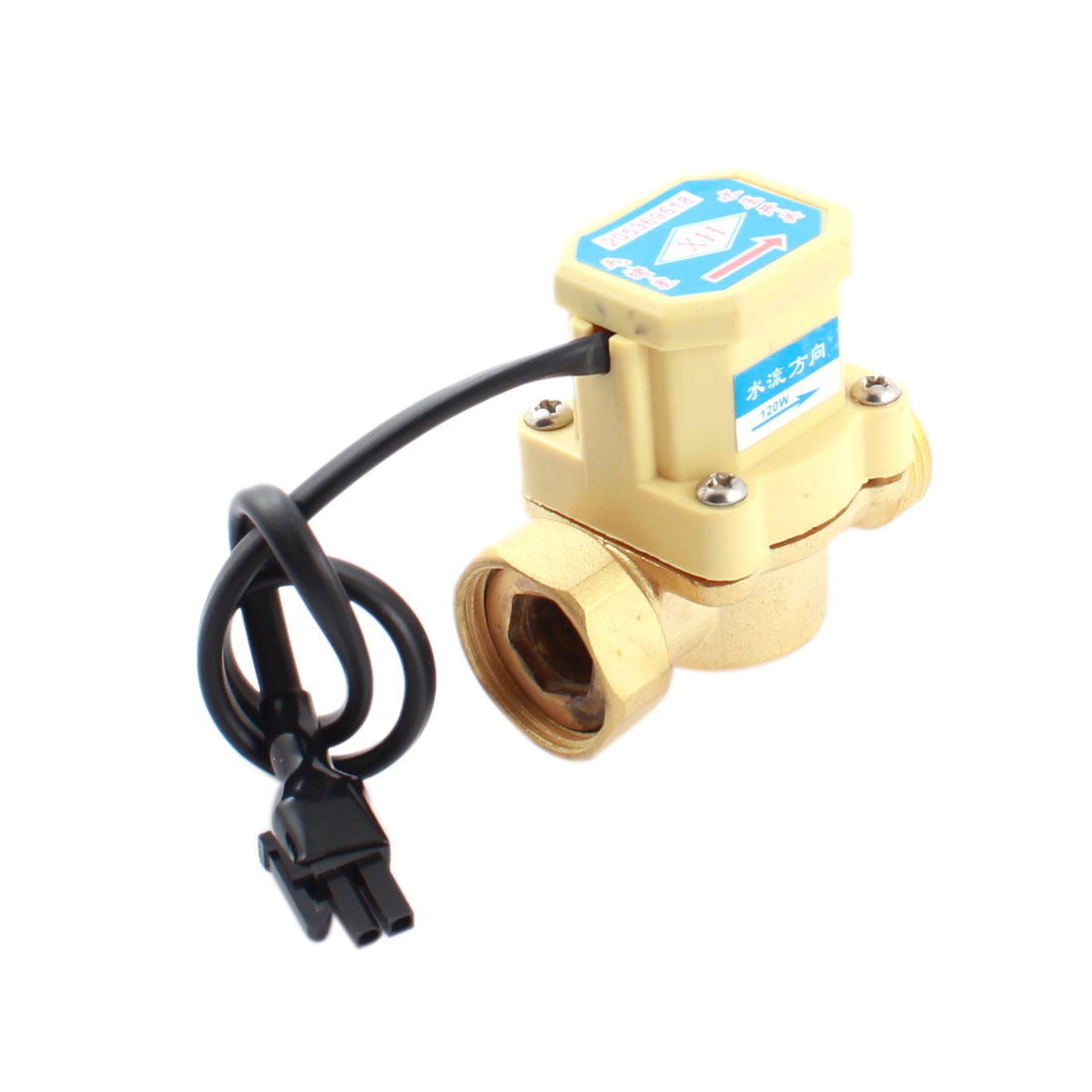 0.6Mpa 0.75-5L/min 1/2PT Male to 3/4PT Female Thread Water Fluid Flow Sensor Controller Flowmeter Switch DC 5-18V 120W