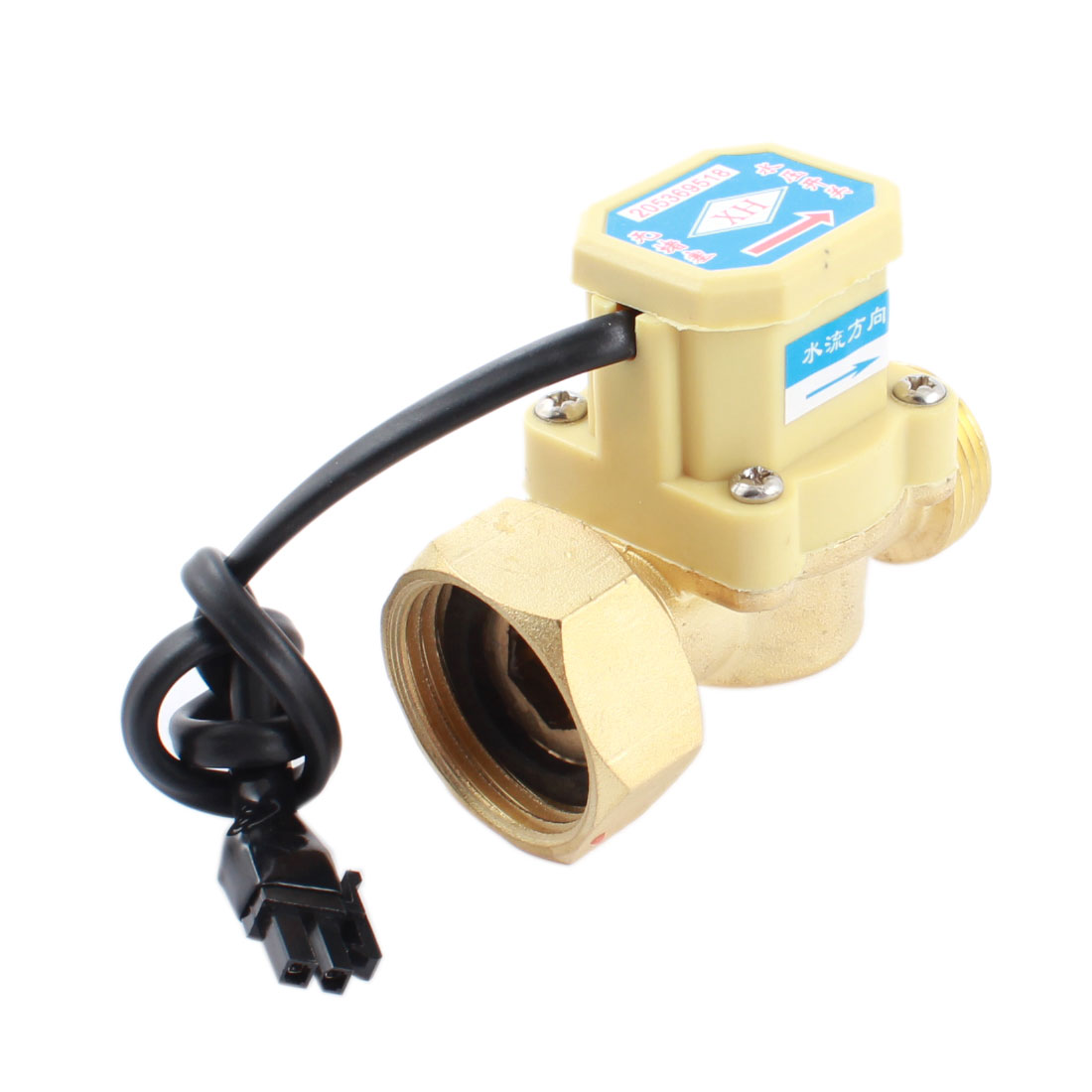 0.6Mpa 0.75-5L/min 3/4PT Male 1PT Female Thread Water Fluid Flow Sensor Controller Flowmeter Switch DC 5-18V 260W