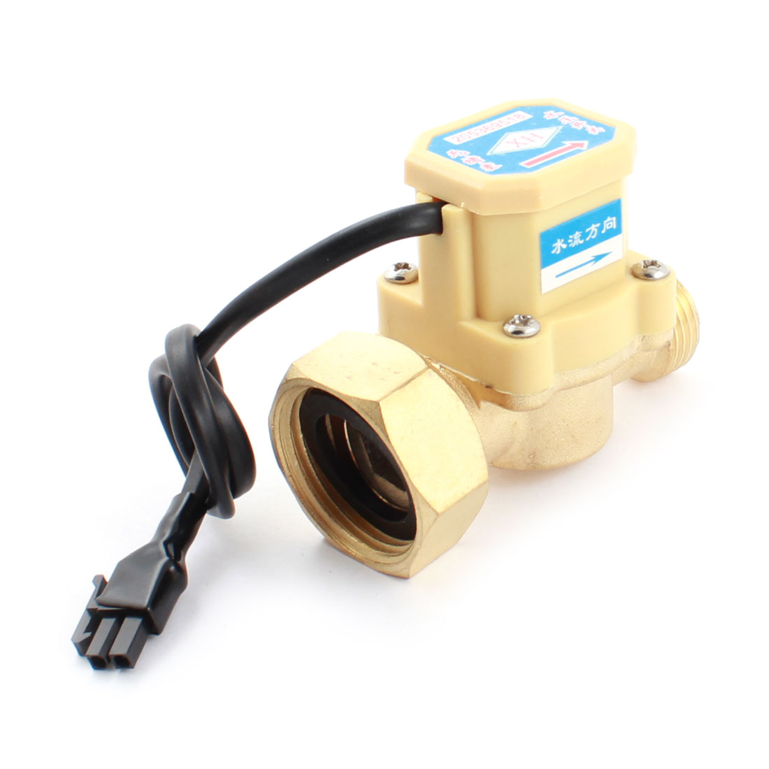 0.6Mpa 0.75-5L/min 1/2PT Male to 1PT Female Thread Water Fluid Flow Sensor Control Switch DC5-18V 260W