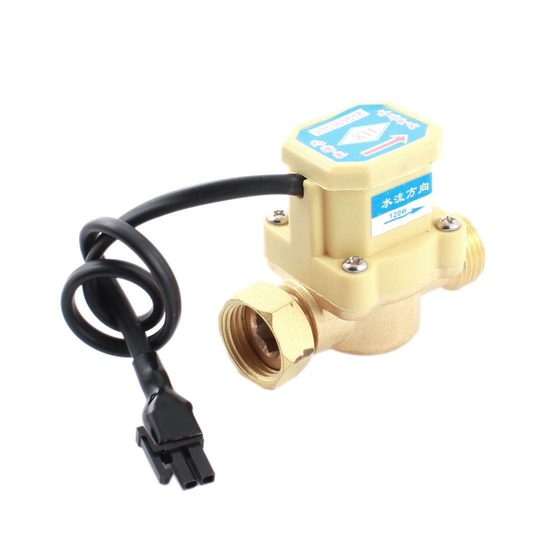0.6Mpa 0.75-5L/min 1/2PT Male to 1/2PT Female Thread Water Fluid Flow Sensor Control Switch DC5-18V 120W