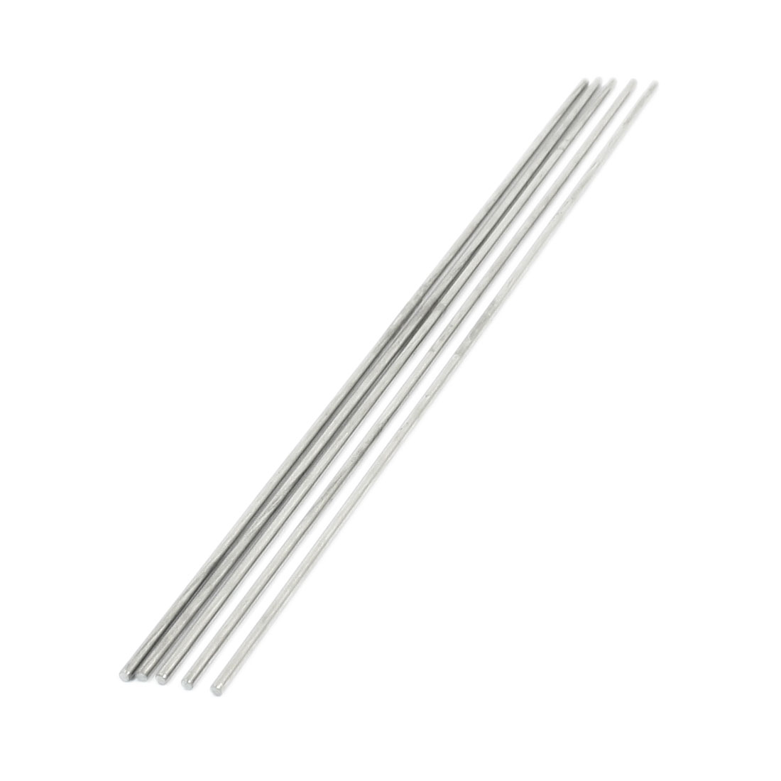 5Pcs 250mm x 2.5mm Stainless Steel Motion Axle Circular Round Rod Bar