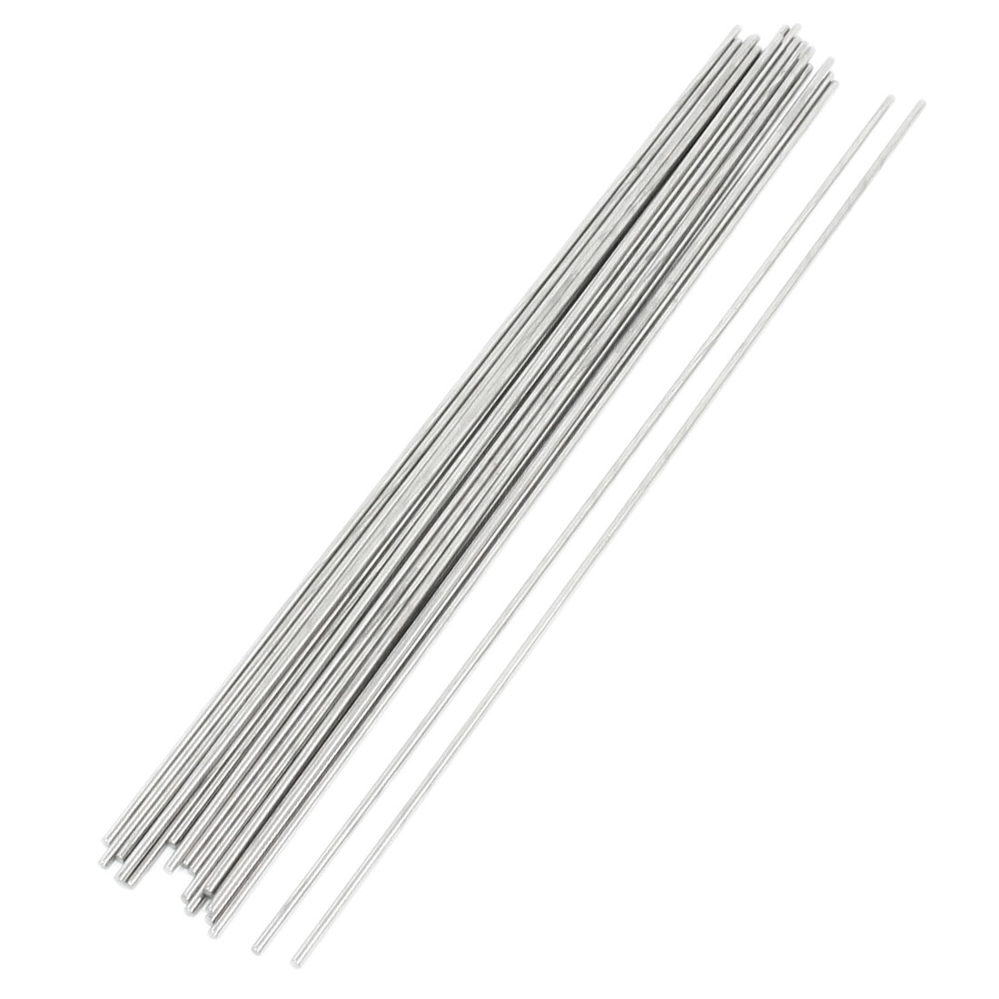 20pcs 300mm Long 2.5mm Dia Silver Tone Stainless Steel Round Rod Bar Shaft Axle for RC Helicopter DIY