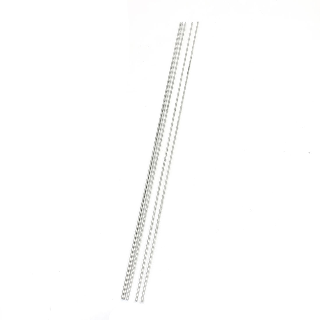RC Model Airplane DIY Silver Tone Stainless Steel Round Rod Shaft Bar Axle 500mm x 2.5mm 5Pcs