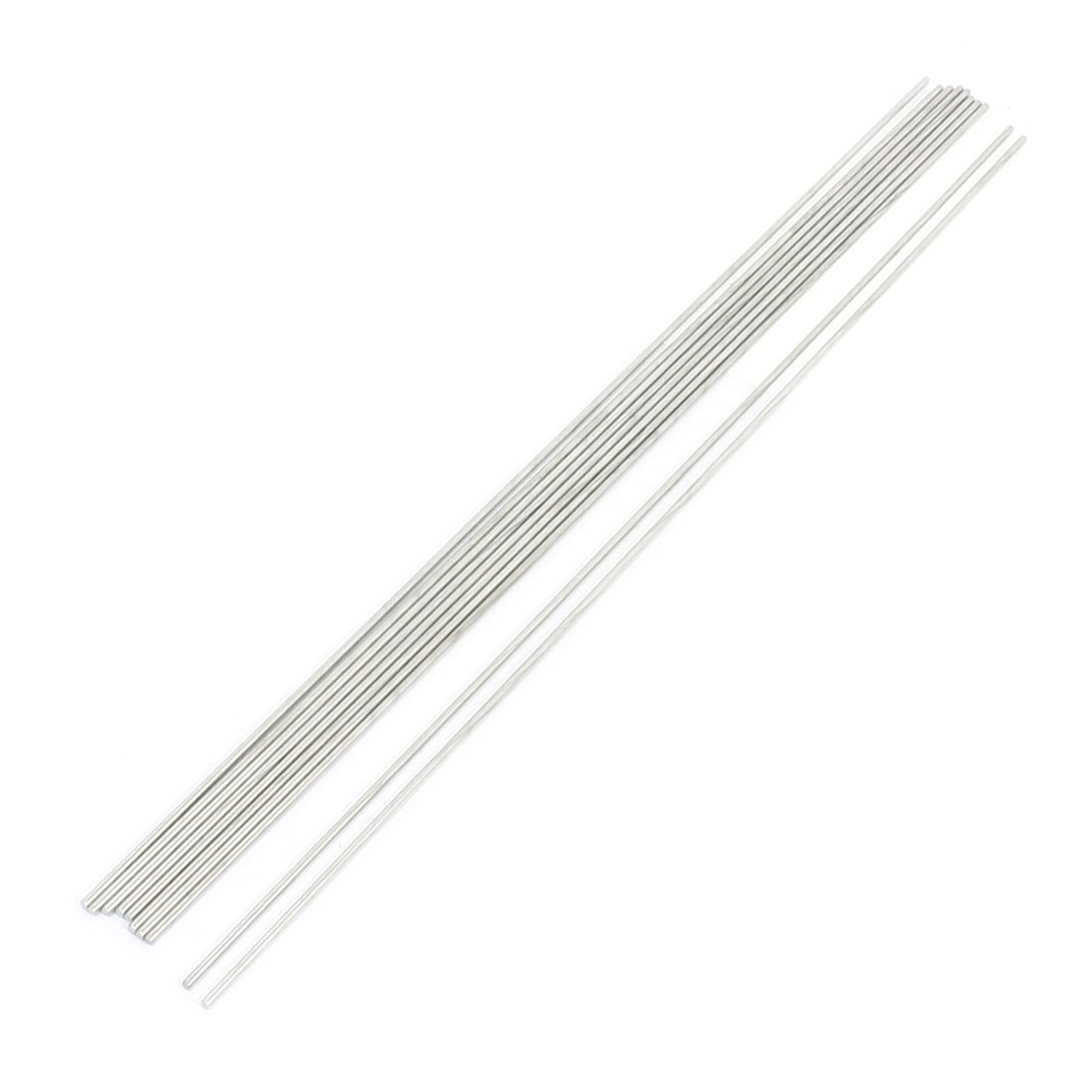10Pcs RC Airplane Hardware Tool Stainless Steel Round Rod 400mm x 2.5mm
