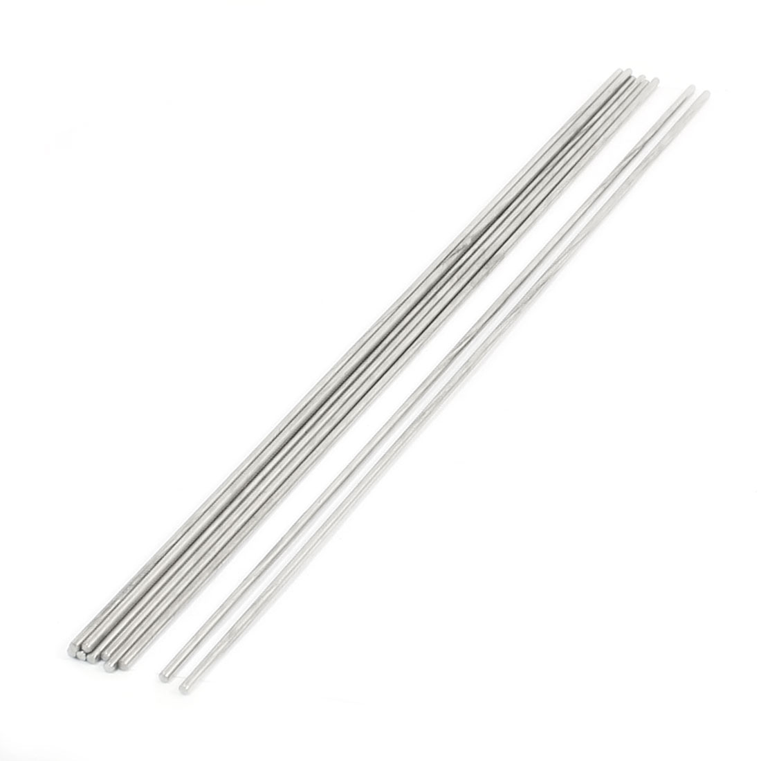 10Pcs Hardware Tool Stainless Steel 300x2.5mm Transmission Round Rods