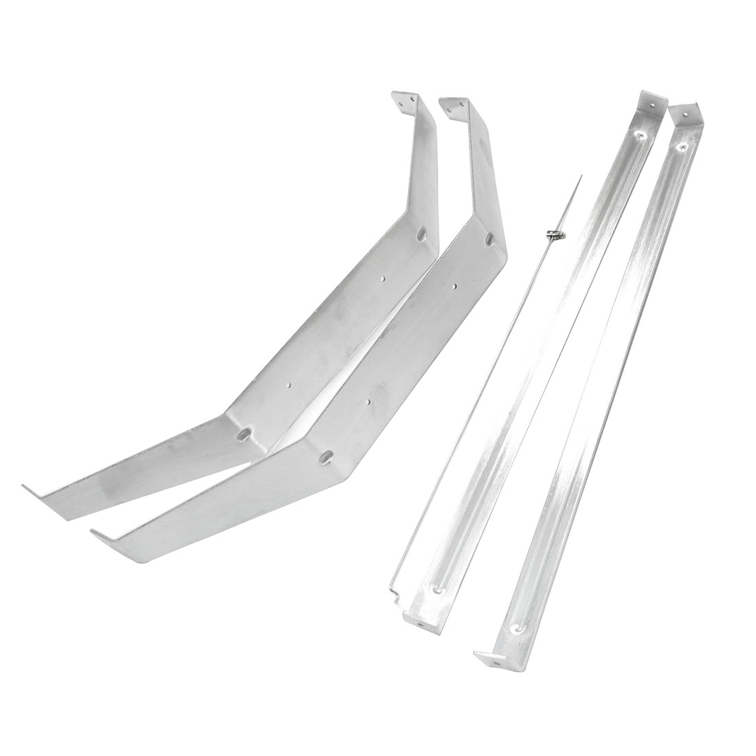 Replacement Silver Tone Aluminium RC Seaplane Water Plane Model Bracket Support Holder Set