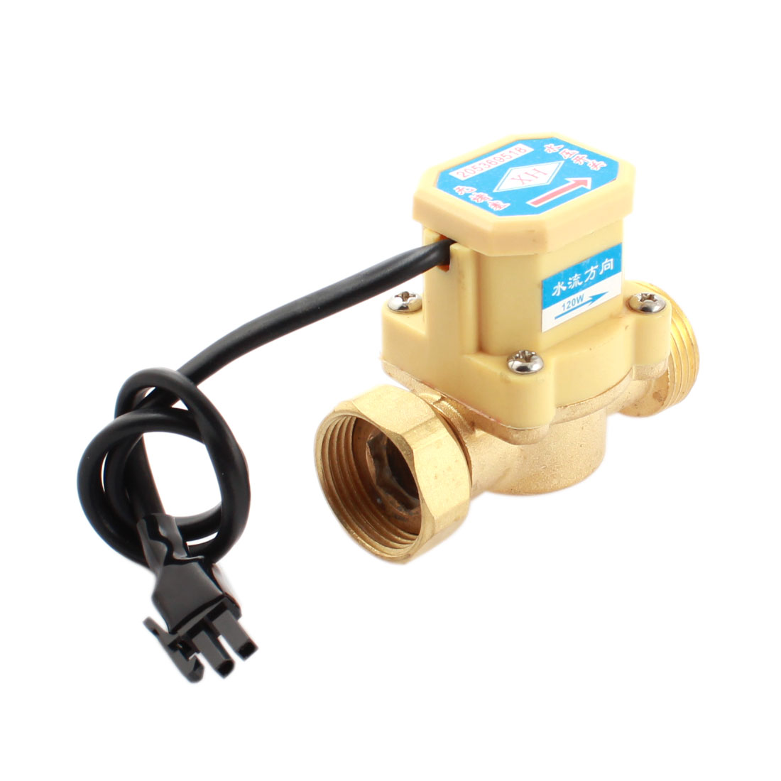 DC 5-18V 120W 3/4PT Male Female Thread Water Fluid Flow Sensor Controller Switch 0.6Mpa 0.75-5L/min
