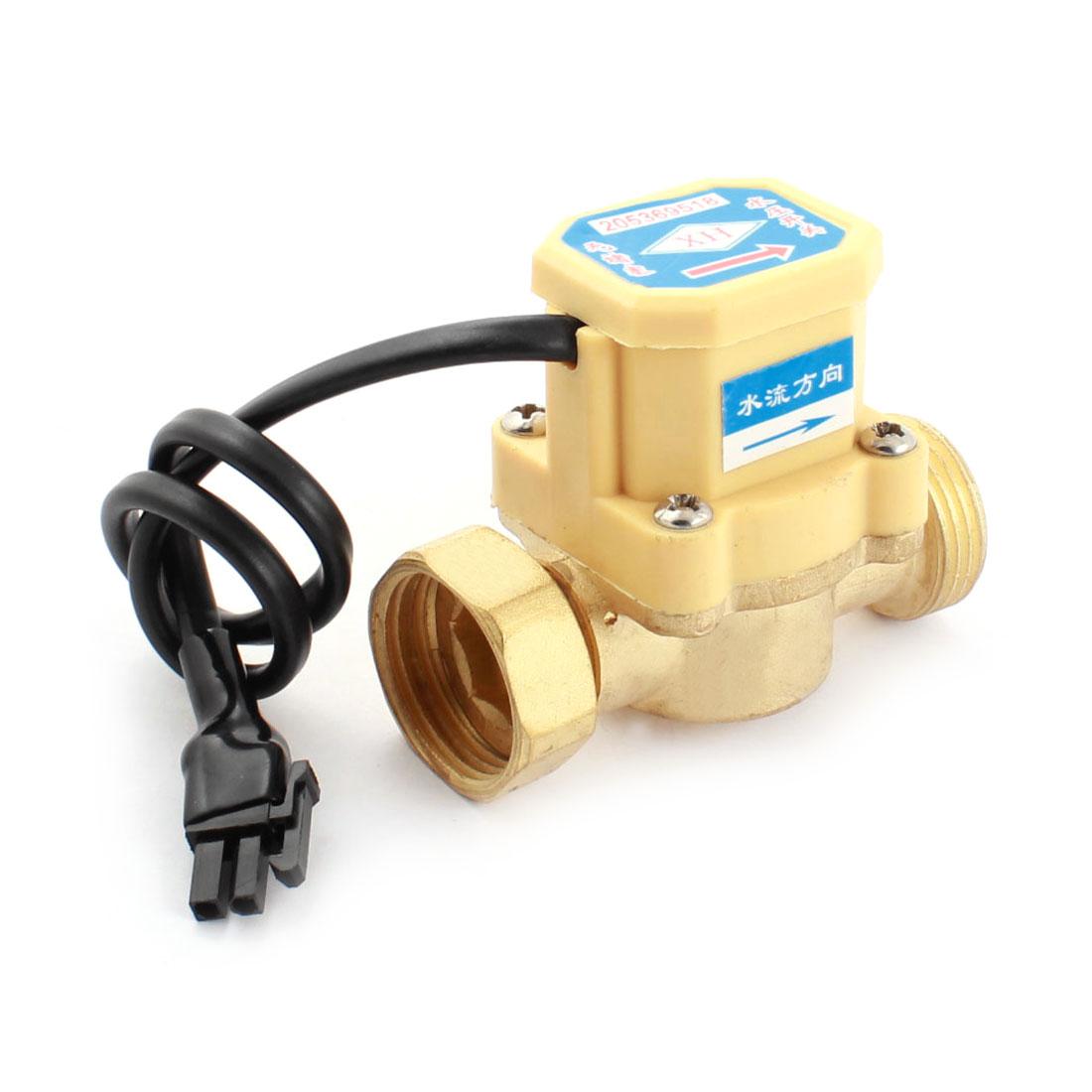 3/4PT Male/Female Thread 0.6Mpa 0.75-5L/min Water Fluid Flow Sensor Control Flowmeter Switch DC 5-18V 260W
