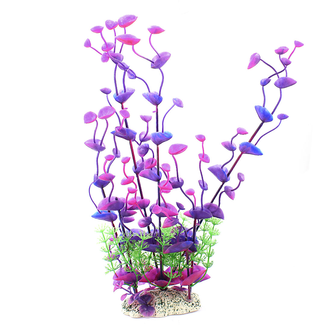 "Fish Tank Aquarium Ornament 12"" Height Simulation Underwater Artificial Emulational Water Plant Grass Fuchsia Purple"