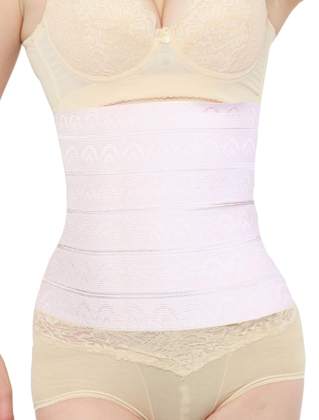 Lady Elastic Shapewear Underbust Slimming Belt Corset Waist Cincher XS Pink