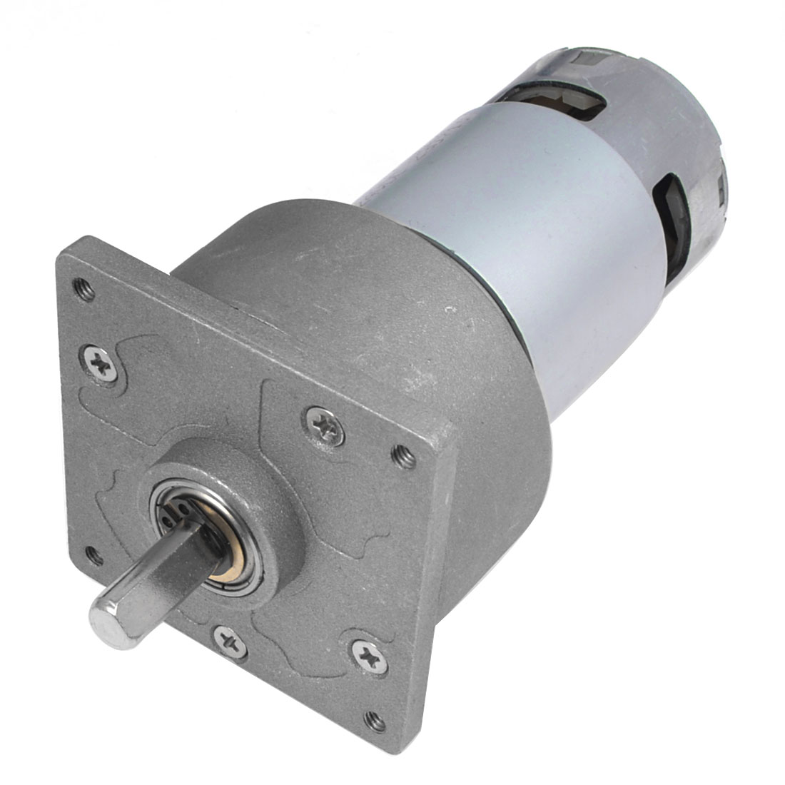 24V 45RPM Rotate Speed 2 Pole Connector 8mm Dia Shaft DC Geared Box Motor