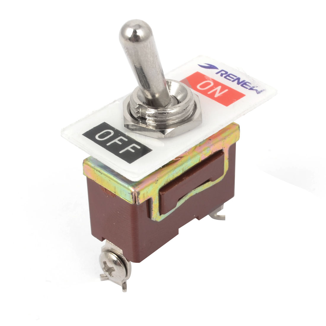 AC 250V 10A/125V 15A ON-OFF Double Screw Terminals SPST Locking Toggle Switch