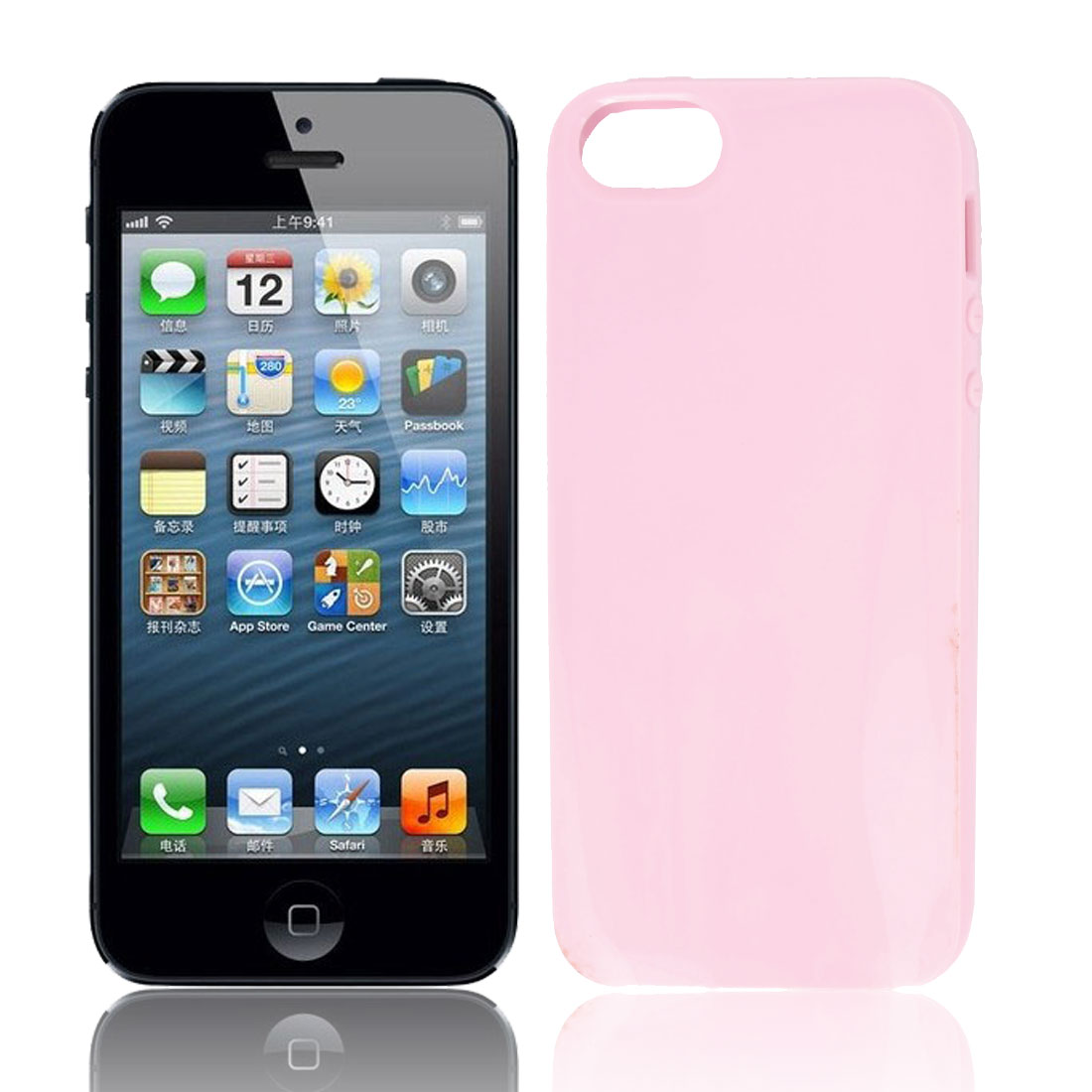 Pink Silicone Anti Dust Protective Back Cover Case for Apple iPhone 5 5G 5th Gen