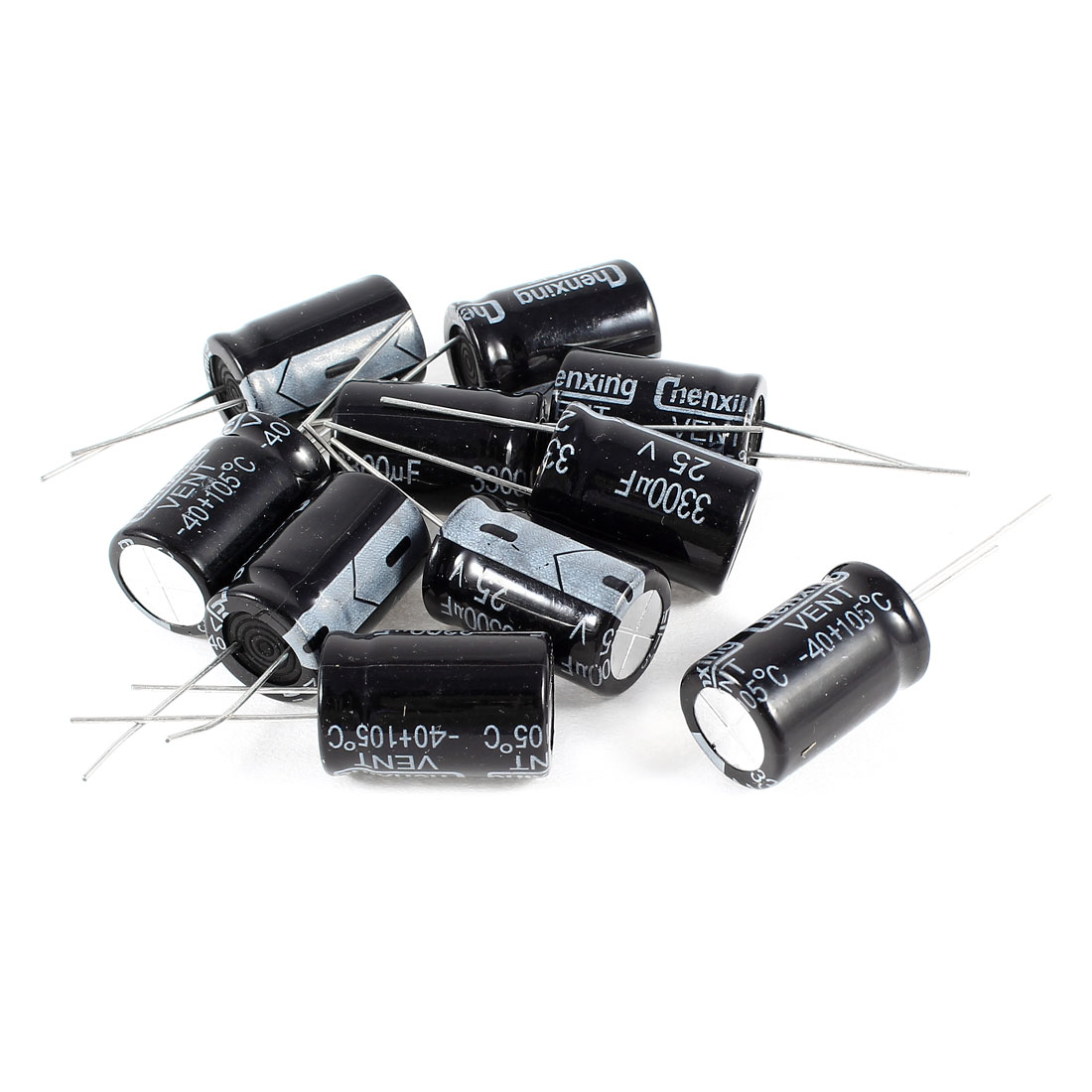 10 Pcs 3300uF 25V Radial Leads Aluminum Electrolytic Capacitors 16x25mm