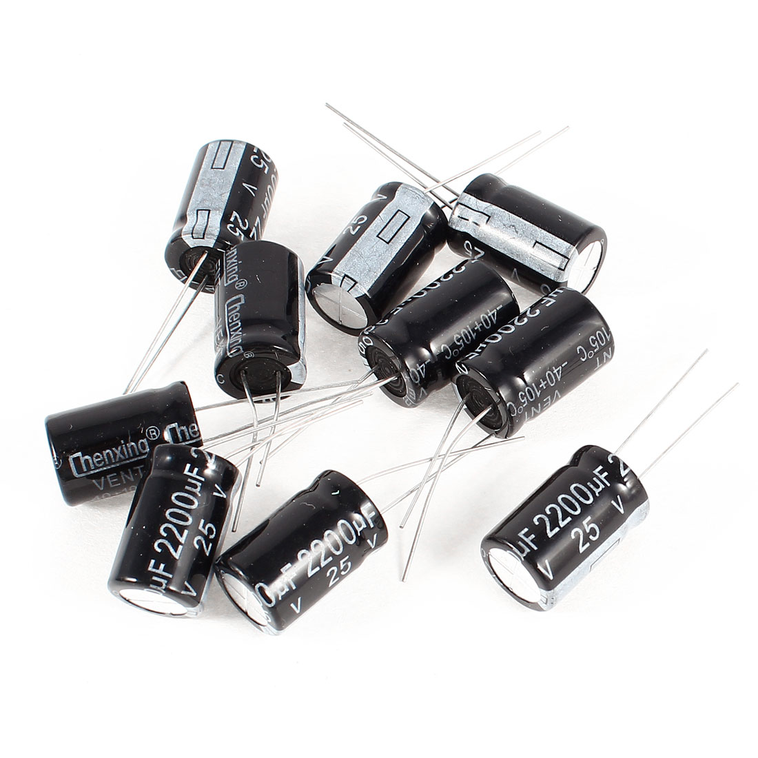 10 Pcs 2200uF 25V Radial Leads Aluminum Electrolytic Capacitors 13x20mm