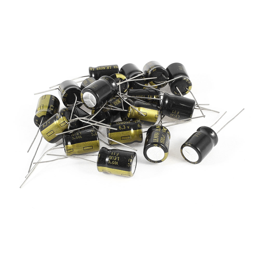 20 Pcs 1500uF 6.3V Radial Leads Aluminum Electrolytic Capacitors 10x15mm