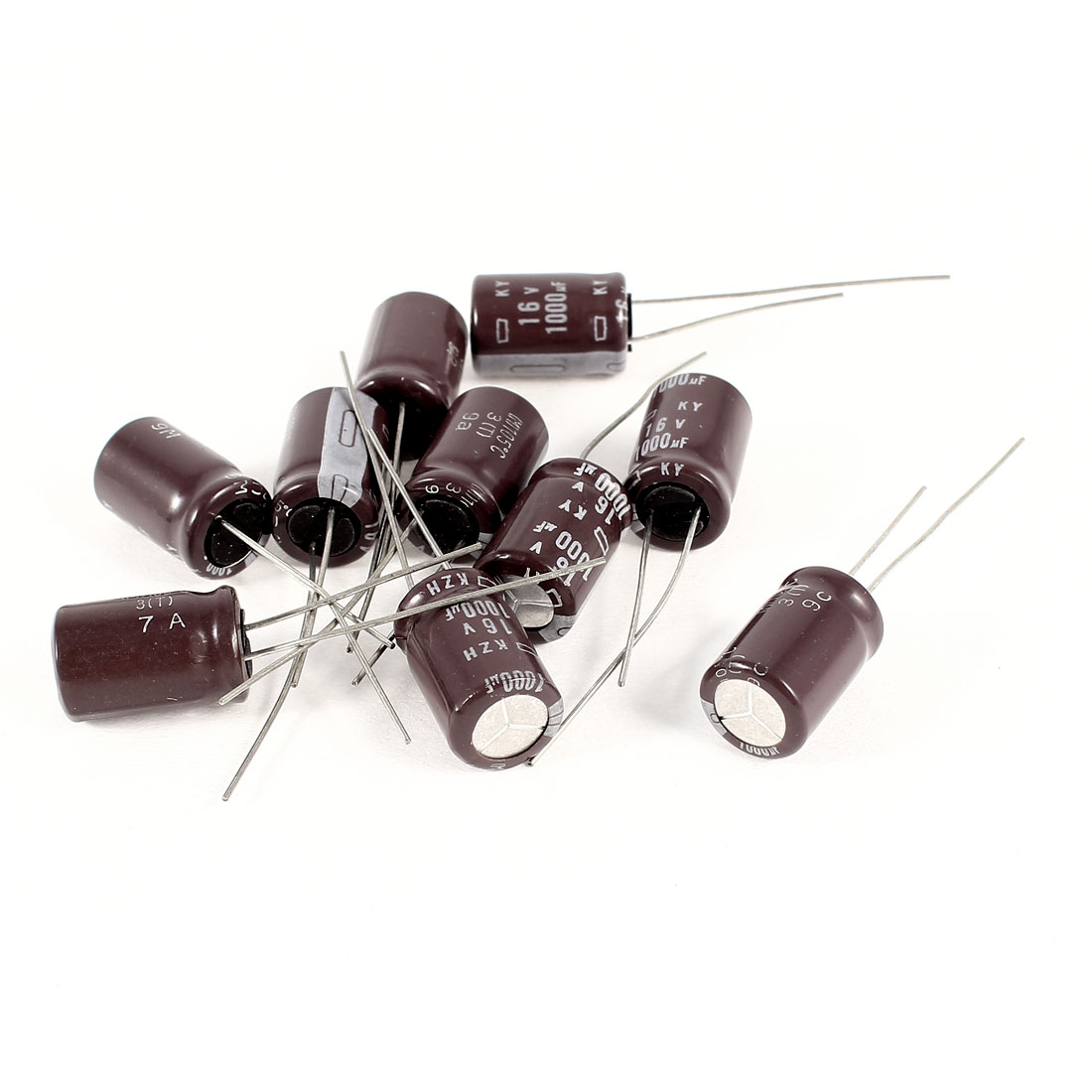 10 Pcs 1000uF 16V Radial Leads Aluminum Electrolytic Capacitors 10x16mm