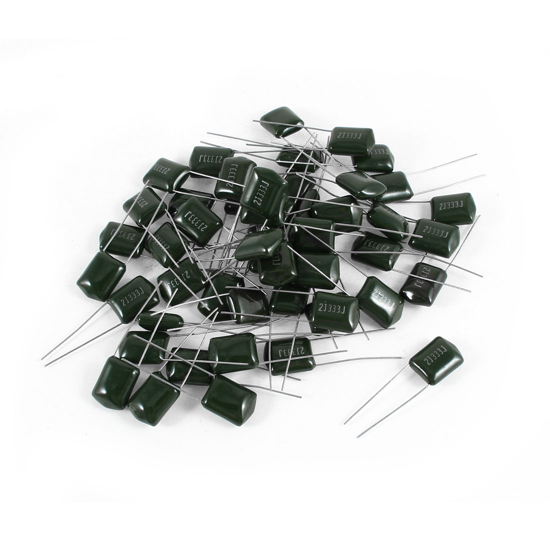 50 Pcs Radial Leads Polyester Film Cap Capacitance Capacitors Green 2J333J 630V 33nF 5%